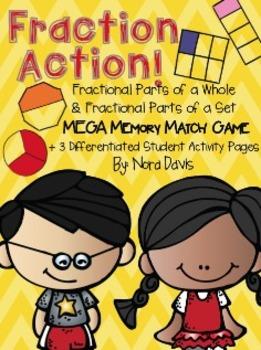 Fraction Action! Mega Match Game & Printables