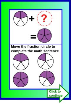 Fraction Action Part To Whole Lesson and Activity SMARTBOARD