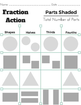 Fraction Action and Partitioning Anchor Charts