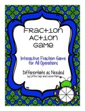 Interactive Fraction Game:  All Operations