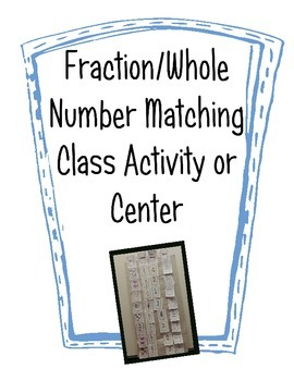 Fraction Activities -- Ordering Fractions, Matching to Wholes, Sorting
