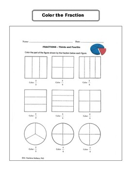 Fraction Activities Worksheets 2nd, 3rd and 4th Grade Common Core Aligned