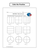 Fraction Activities Worksheets 3rd Grade NO PREP Common Core Aligned