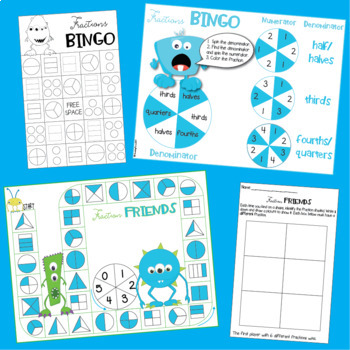 Fraction Games for Second Grade