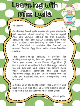 Easter Fraction Activity