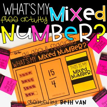 Fraction Activity What's My Mixed Number?