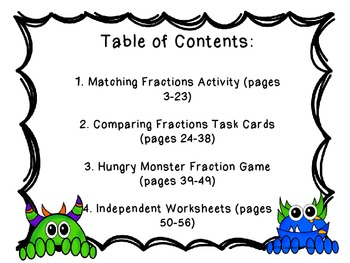 Fraction Activity and Worksheet Bundle