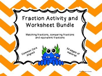 Fraction Activity and Worksheet Bundle