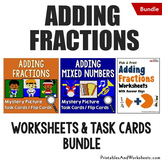 Adding Fractions with Unlike Denominators and Like Denom Bundle