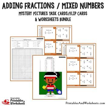 Adding Unlike Fractions, Adding Fraction With Like Denominator Bundle