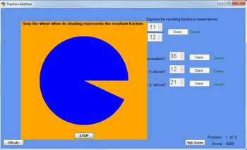 Fraction Addition Game: A Computer Game Teaching Adding Fractions