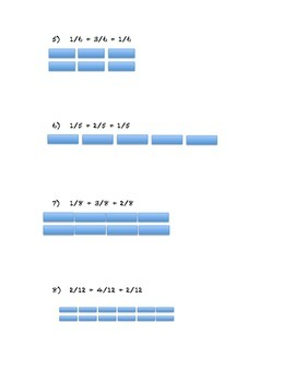Fraction Addition:  Like Denominators