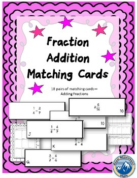Fraction Addition Matching Cards