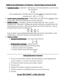 Fraction Addition/Subtraction Study Guide