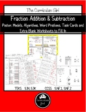 Fraction Addition & Subtraction Unit (TEKS 5.3H, 5.3K, CCSS 5.NF.1, 5.NF.2)