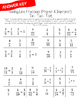 Fraction Addition Tic-Tac-Toe Game: Adding Like Fractions (Proper)