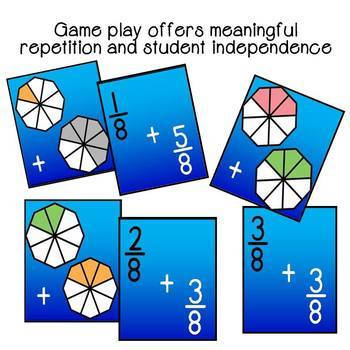 Fraction Addition Top It Game