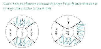 Fraction Addition and Subtraction Action Pack