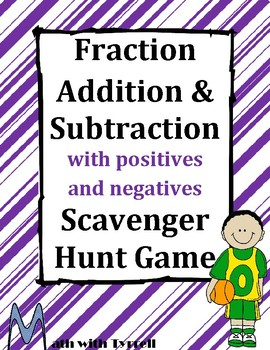 Fraction Addition and Subtraction with Positives and Negat