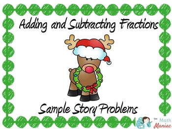 Fraction Addition and Subtraction Story Problems Sample Ch