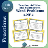 5.NF.2 Adding and Subtracting Fractions Word Problem Task Cards