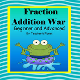 Fraction Games - Fraction Addition War and Task Cards!