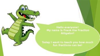 Fraction Alligator- Powerpoint and Cut outs