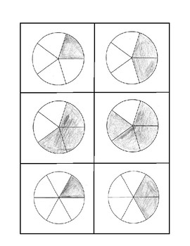 Fraction Area Model Cards - Circles
