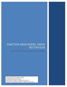 Fraction Area Model Cards - Rectangles