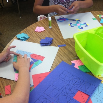 Fraction Art {An Adding Fractions Activity}