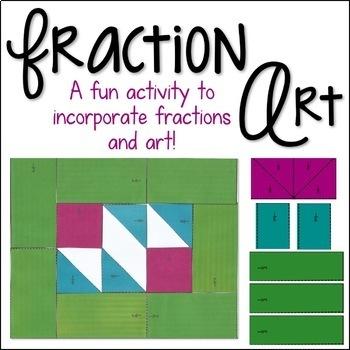 Fraction Art {An Adding Fractions Activity}