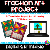 Fraction Art Project     Distance Learning     Digital & Paper