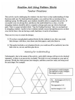 Fraction Art Using Pattern Blocks