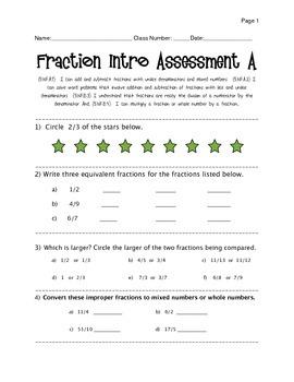 Fraction Assesment Grade 5.NF.A.1- B.4