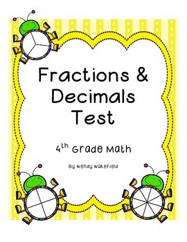 Fraction Assessment - 4th Grade Math Common Core