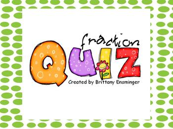 Fraction Assessment Quiz