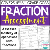 Fraction Assessment Sixth and Seventh Grades