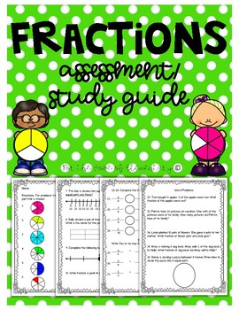 Fraction Assessment/ Study Guide