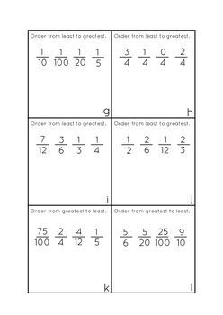 Fraction Assessment Task Cards