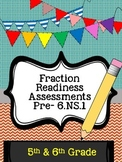 Fraction Assessments