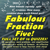 Fraction Assessments: Adding, Subtracting, Multiplying, Di