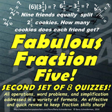 Fraction Assessments: Adding, Subtracting, Multiplying, Dividing Fractions Tests