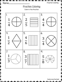 Fraction Attraction- Mixed Printable Bundle