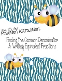 Fraction Attraction Pack: Least Common Denominator and Equ