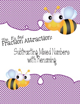 math worksheet : fraction attraction pack subtracting mixed numbers with renaming : Fraction Attraction Worksheet
