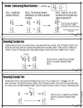 math worksheet : attraction pack subtracting mixed numbers with renaming : Fraction Attraction Worksheet