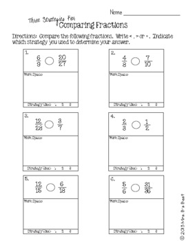 Fraction Attraction Pack: Three Strategies to Compare and Order Fractions