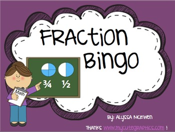 Fraction BINGO (25 Bingo Cards and 26 call out slides)