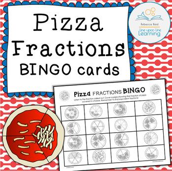 Fraction BINGO Boards (Pizza)