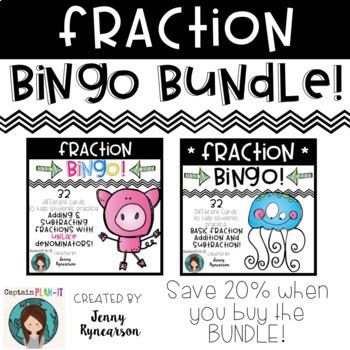 Fraction BINGO Bundle! Save 20% when you purchase the BUNDLE!